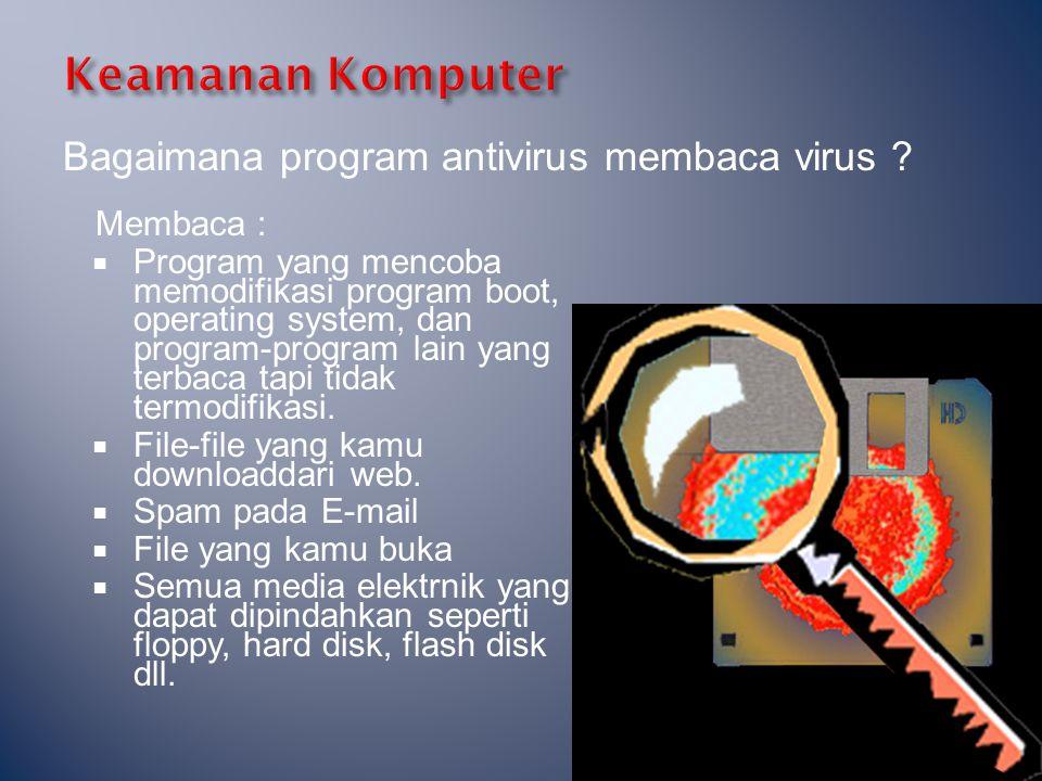 Keamanan Komputer Bagaimana program antivirus membaca virus