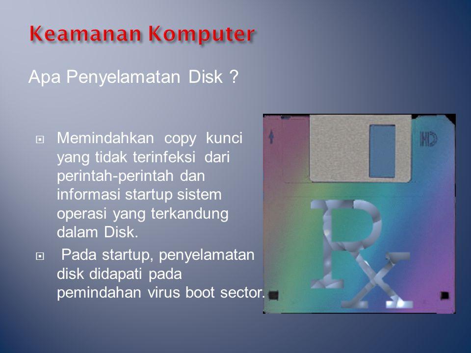 Keamanan Komputer Apa Penyelamatan Disk