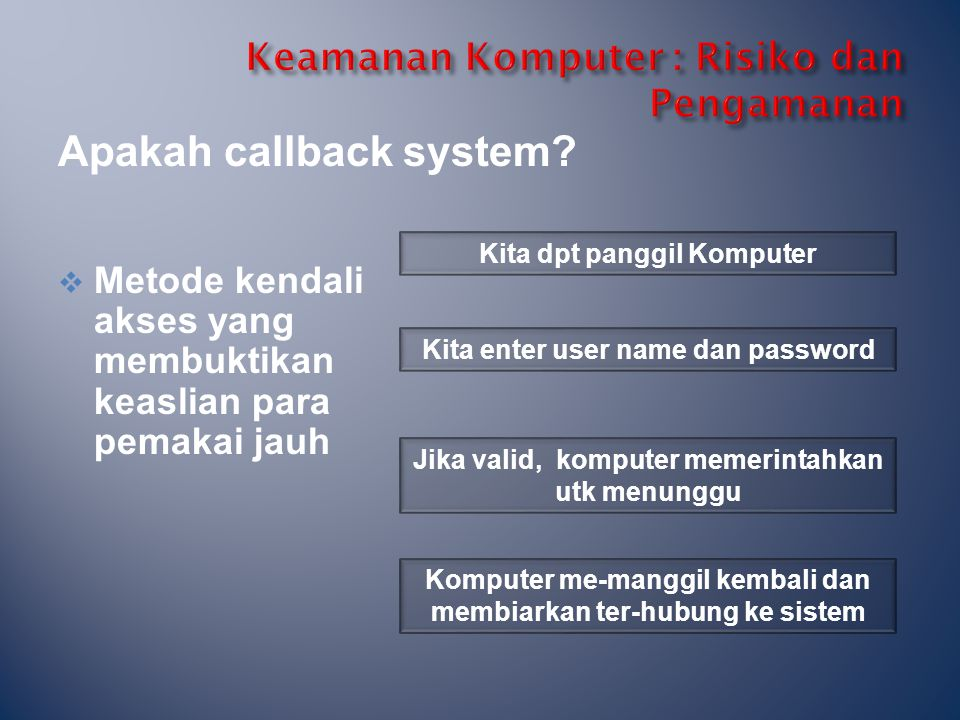 Keamanan Komputer : Risiko dan Pengamanan