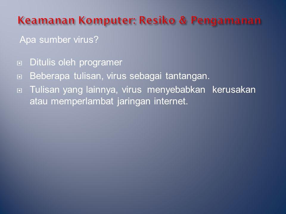 Keamanan Komputer: Resiko & Pengamanan