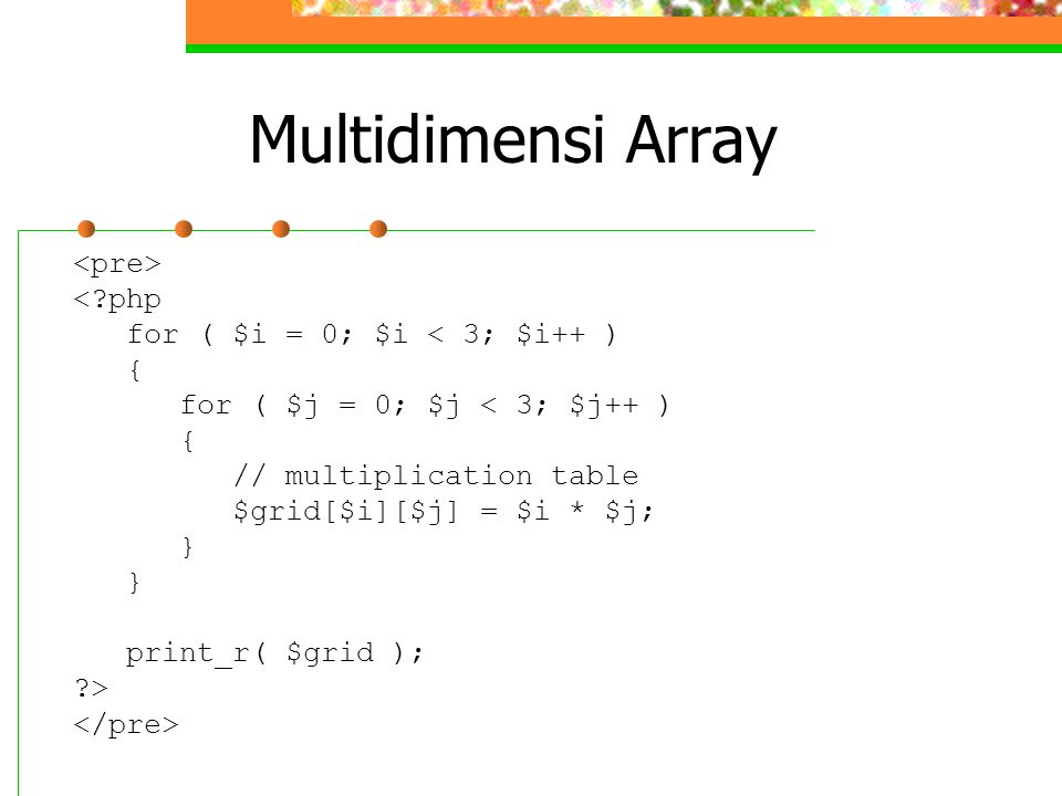 Multidimensi Array