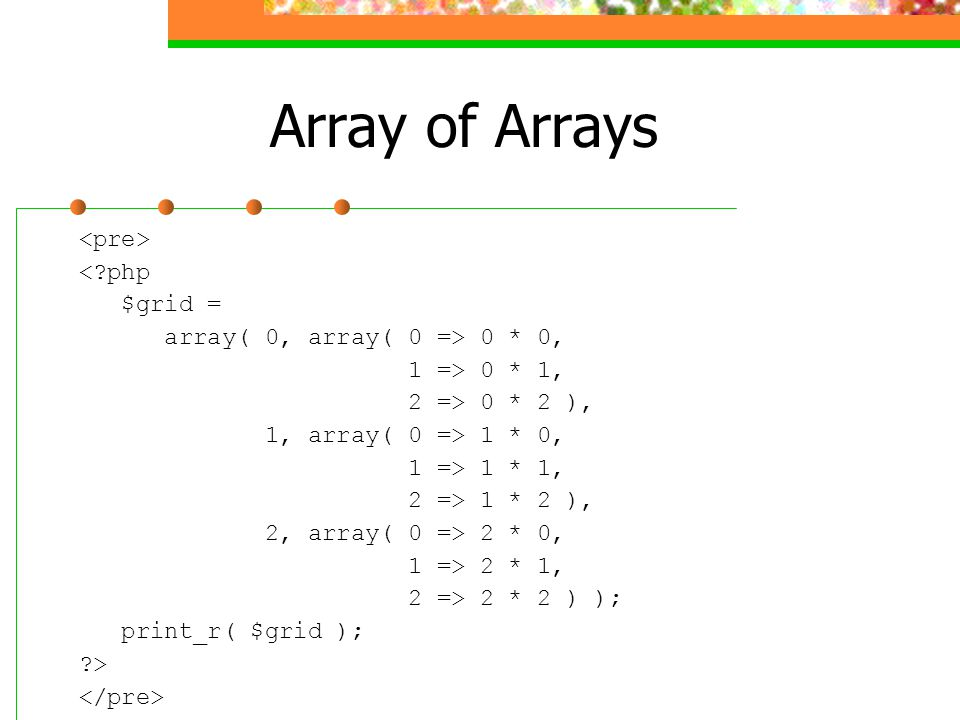 Array of Arrays