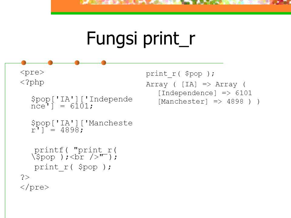 Fungsi print_r