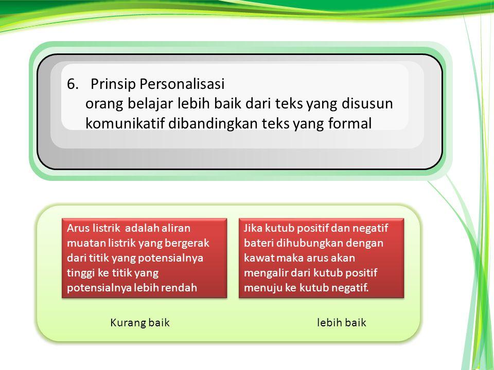 6. Prinsip Personalisasi