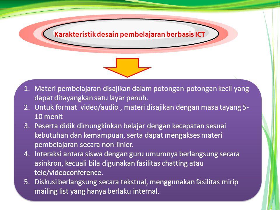 Karakteristik desain pembelajaran berbasis ICT