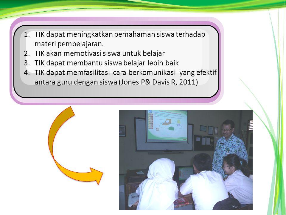 TIK dapat meningkatkan pemahaman siswa terhadap materi pembelajaran.