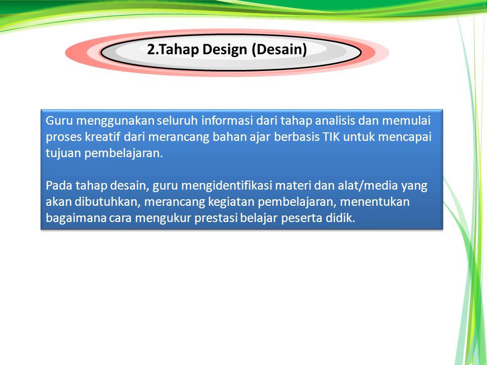 2.Tahap Design (Desain)