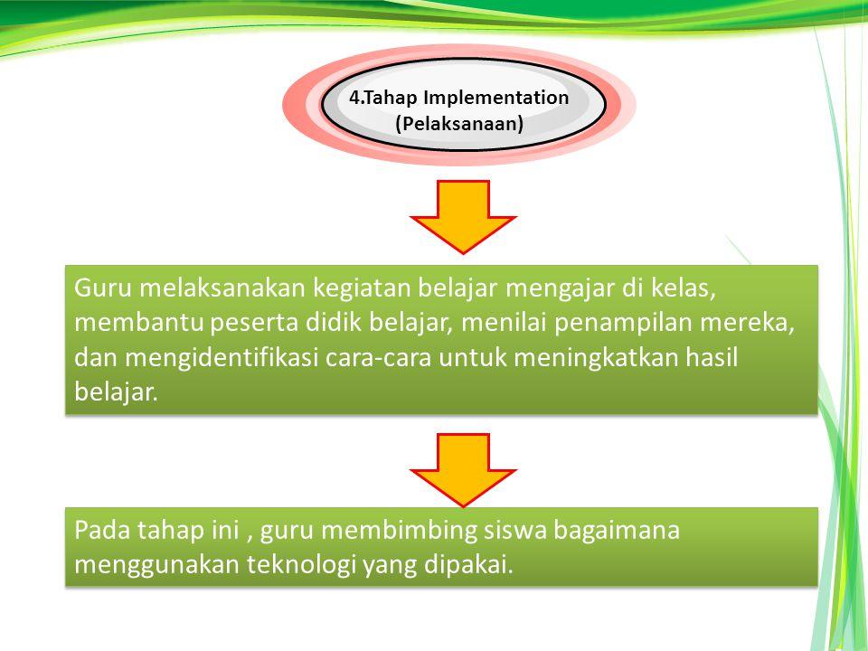 4.Tahap Implementation (Pelaksanaan)