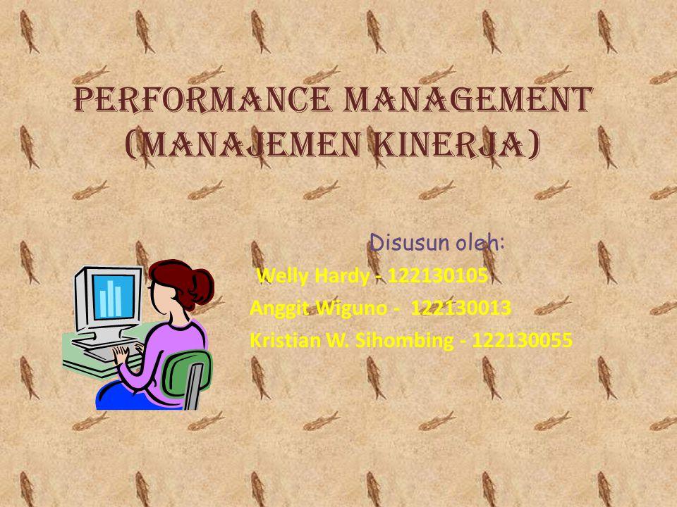 Performance Management (Manajemen Kinerja)