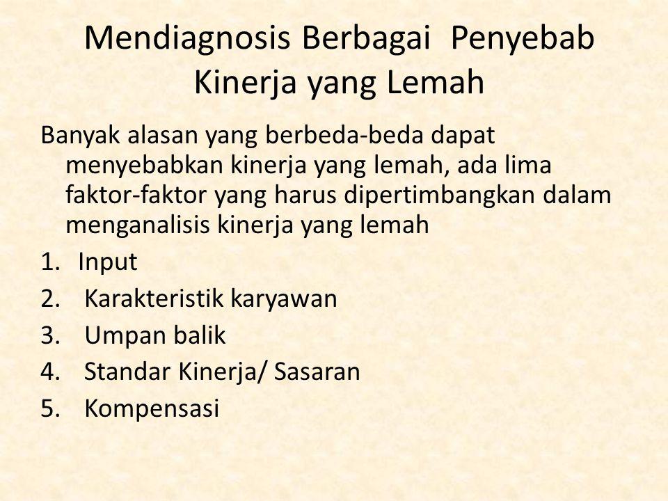 Mendiagnosis Berbagai Penyebab Kinerja yang Lemah