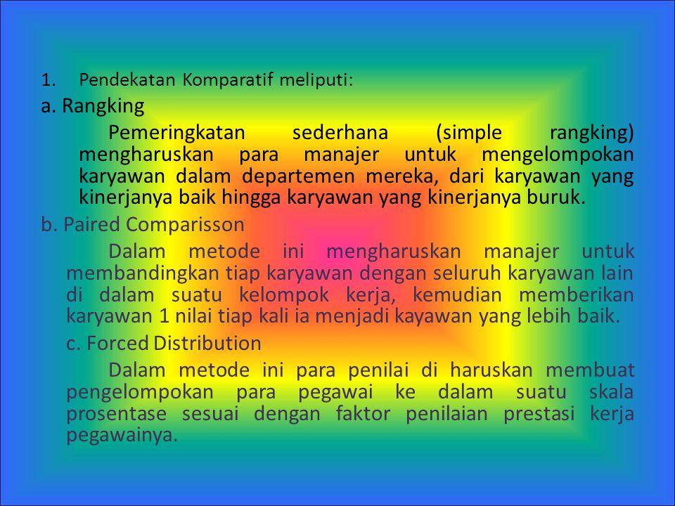 Pendekatan Komparatif meliputi: