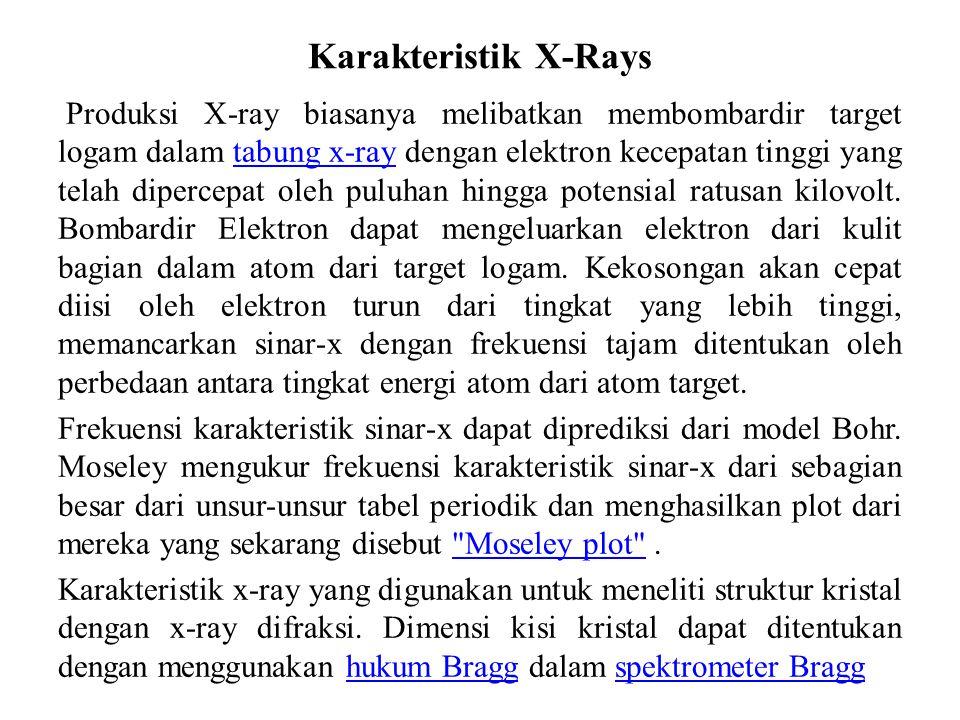 Karakteristik X-Rays