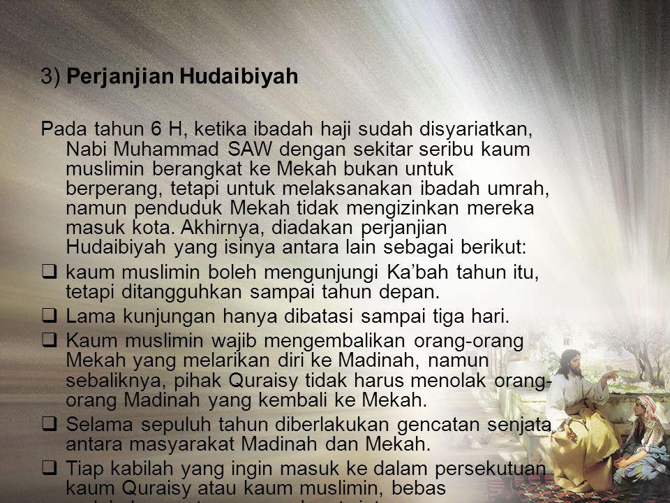 3) Perjanjian Hudaibiyah