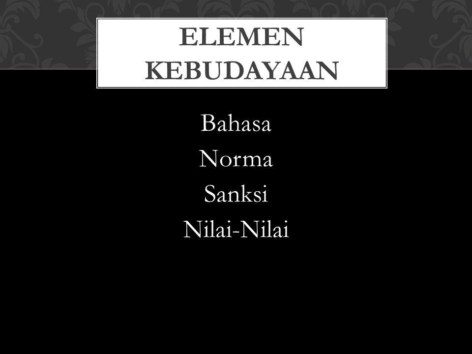 Bahasa Norma Sanksi Nilai-Nilai