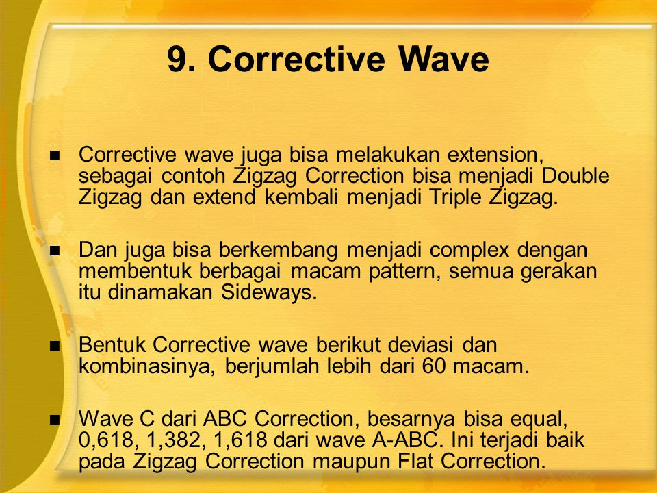 9. Corrective Wave
