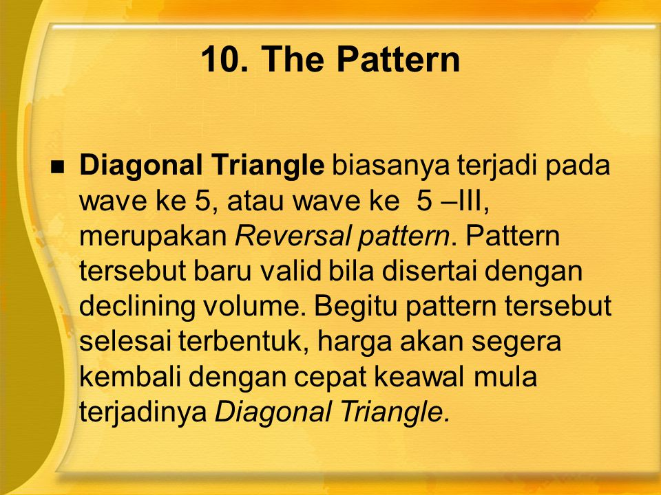 10. The Pattern