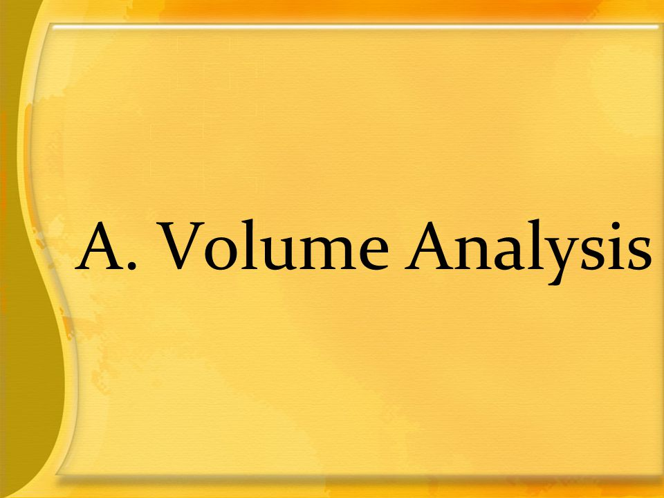 A. Volume Analysis