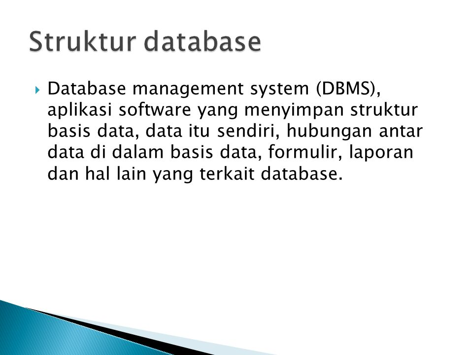 Struktur database