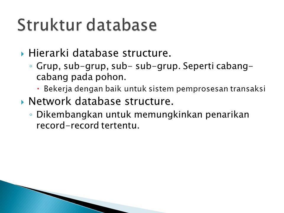 Struktur database Hierarki database structure.