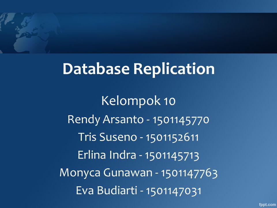 Database Replication Kelompok 10 Rendy Arsanto - 1501145770