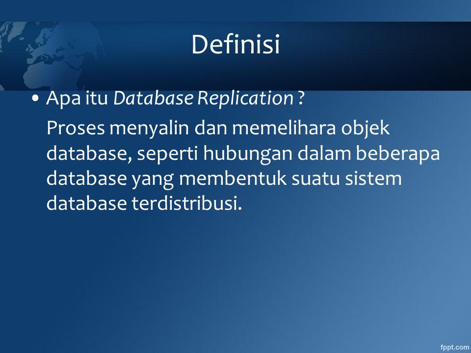 Definisi Apa itu Database Replication