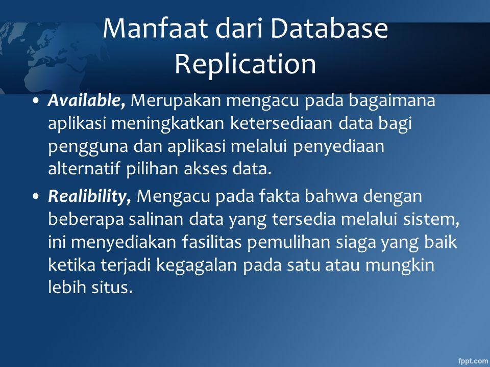 Manfaat dari Database Replication