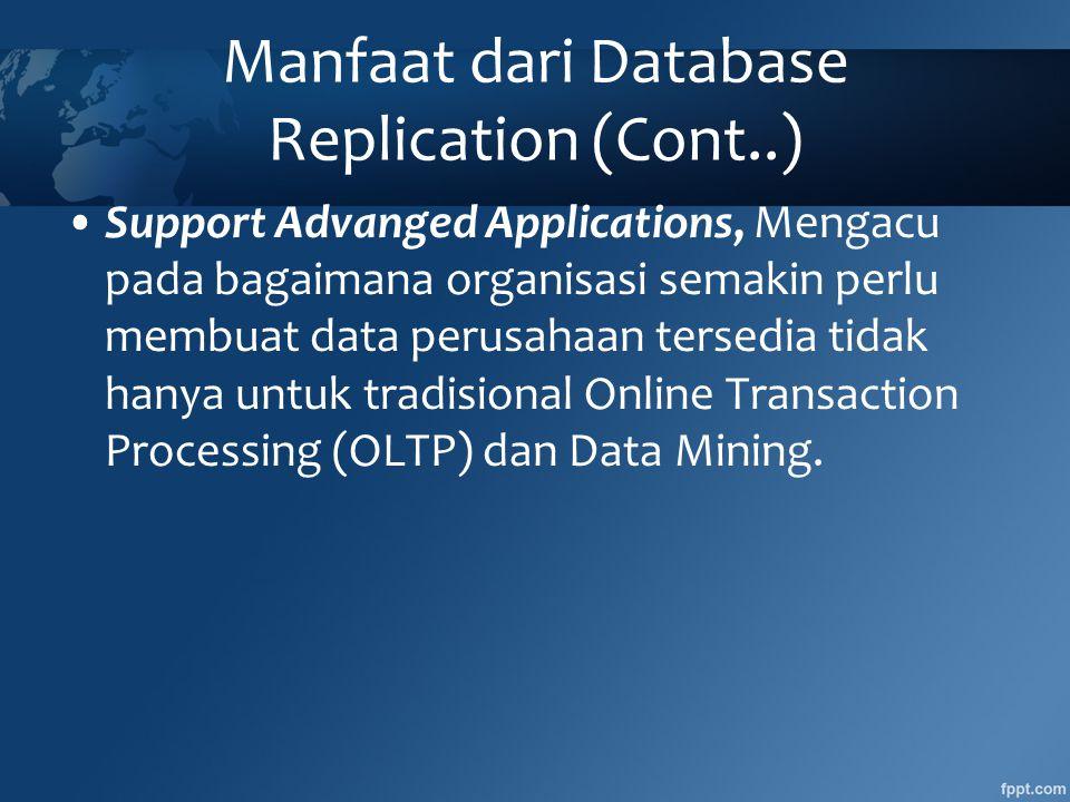Manfaat dari Database Replication (Cont..)