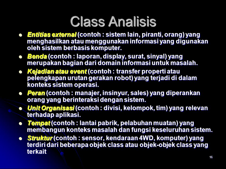 Class Analisis
