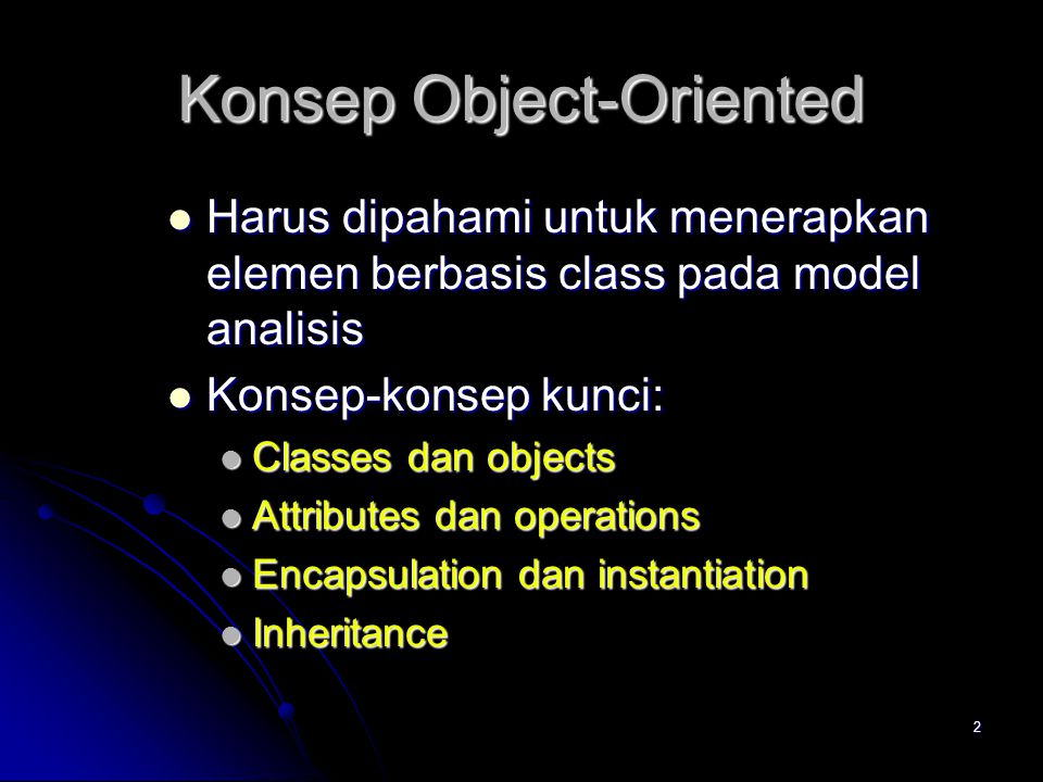Konsep Object-Oriented