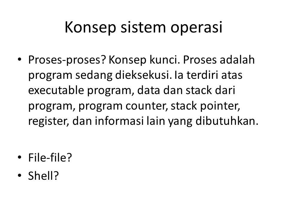 Konsep sistem operasi