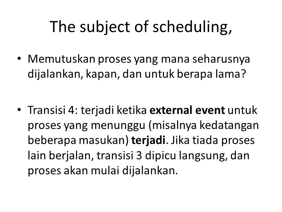 The subject of scheduling,