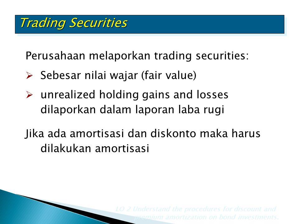 Trading Securities Perusahaan melaporkan trading securities: