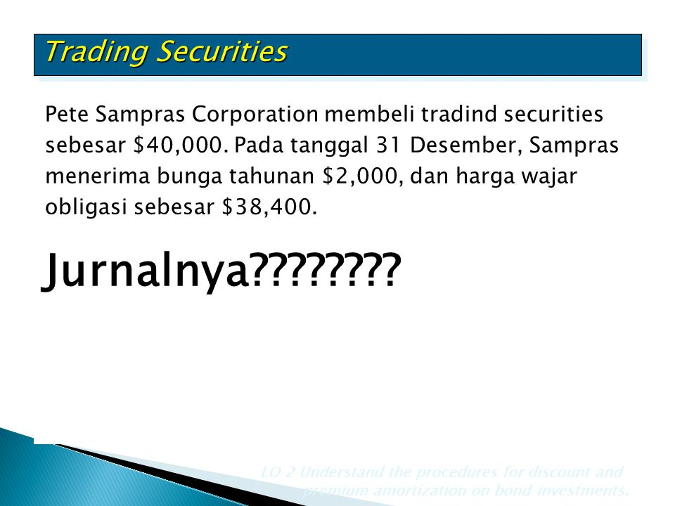 Jurnalnya Trading Securities