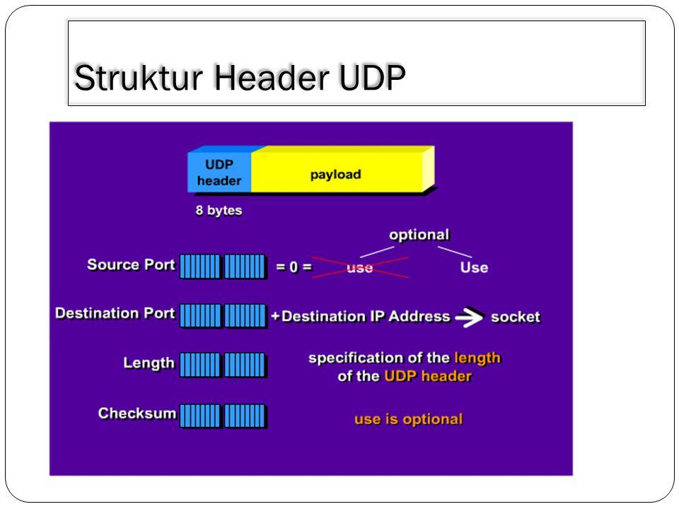 3/30/2011 Struktur Header UDP