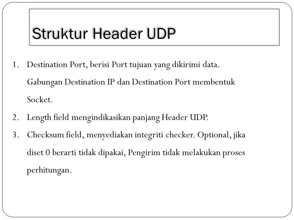 3/30/2011 Struktur Header UDP.