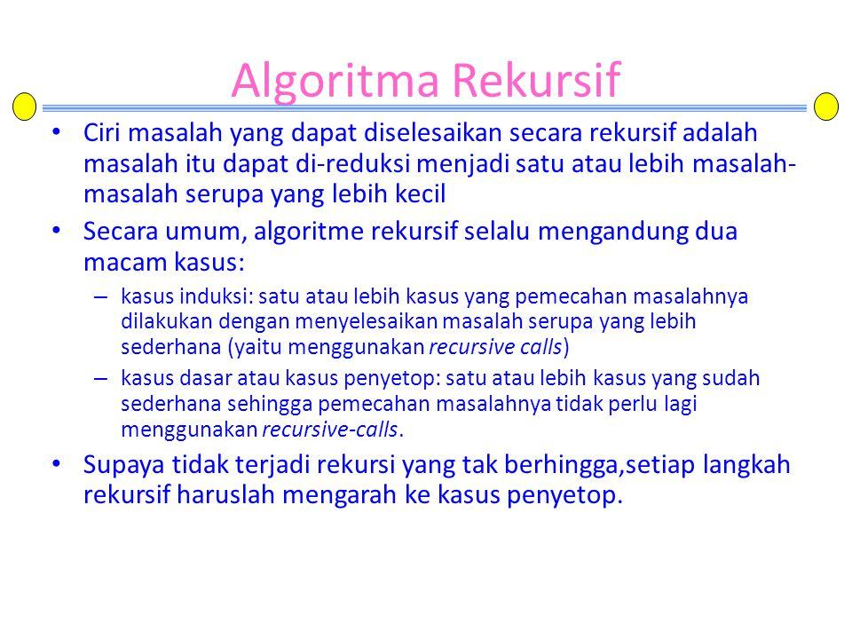 Algoritma Rekursif
