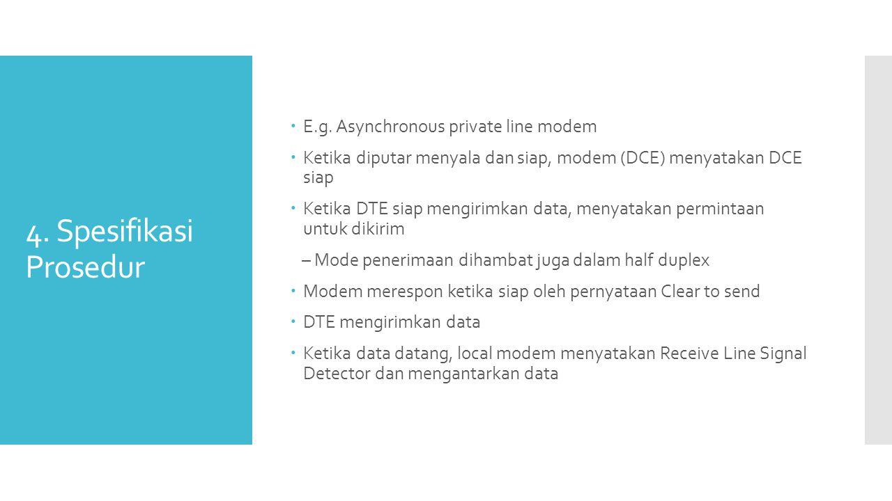 4. Spesifikasi Prosedur E.g. Asynchronous private line modem