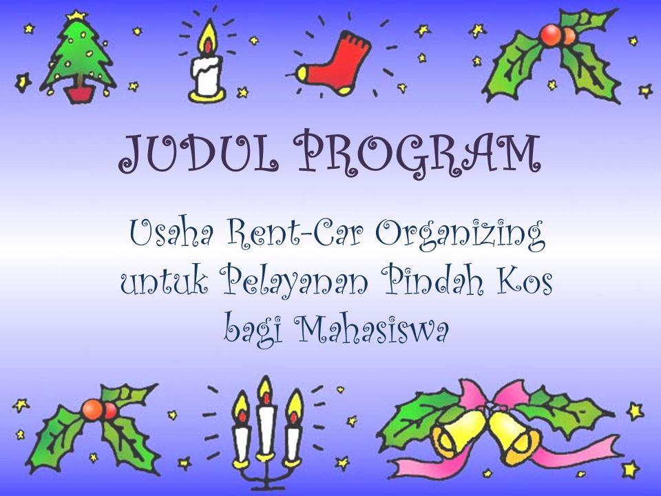 Usaha Rent-Car Organizing untuk Pelayanan Pindah Kos bagi Mahasiswa