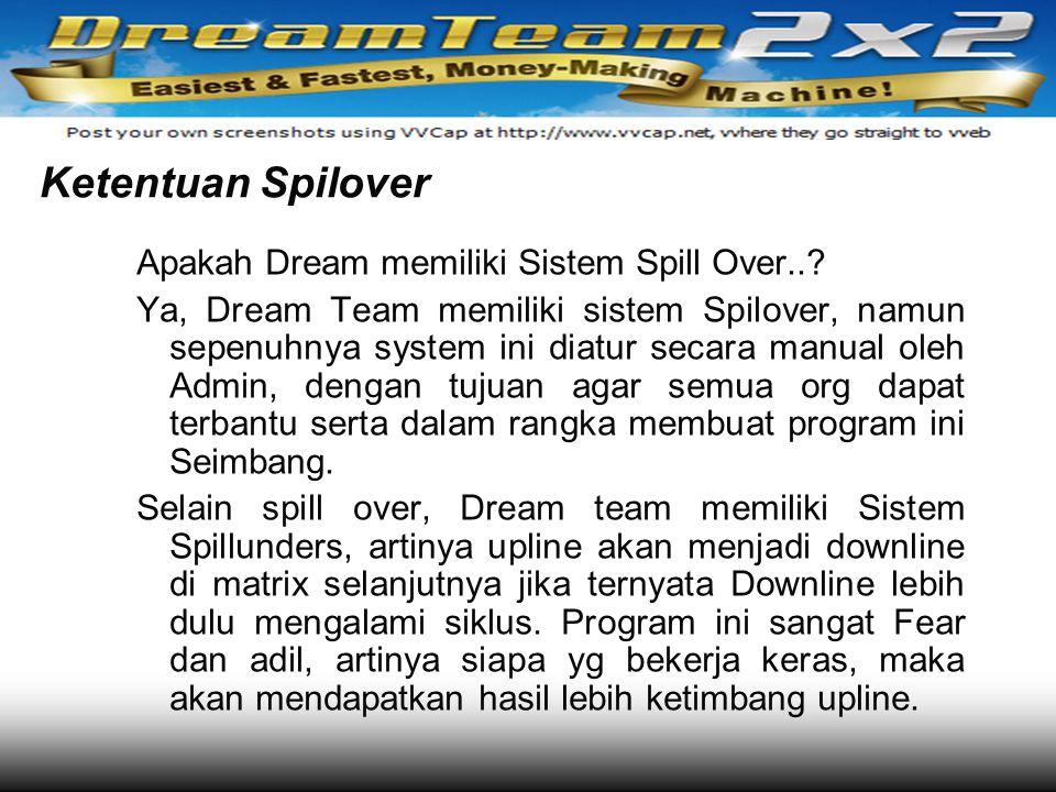 Ketentuan Spilover Apakah Dream memiliki Sistem Spill Over..
