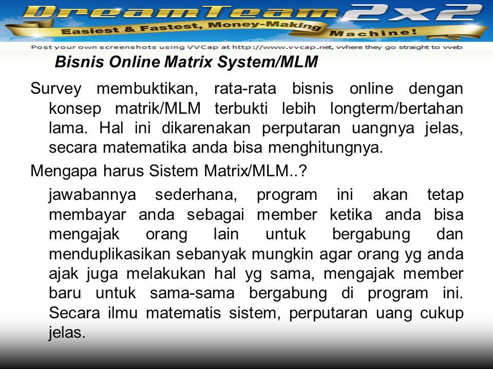 Bisnis Online Matrix System/MLM