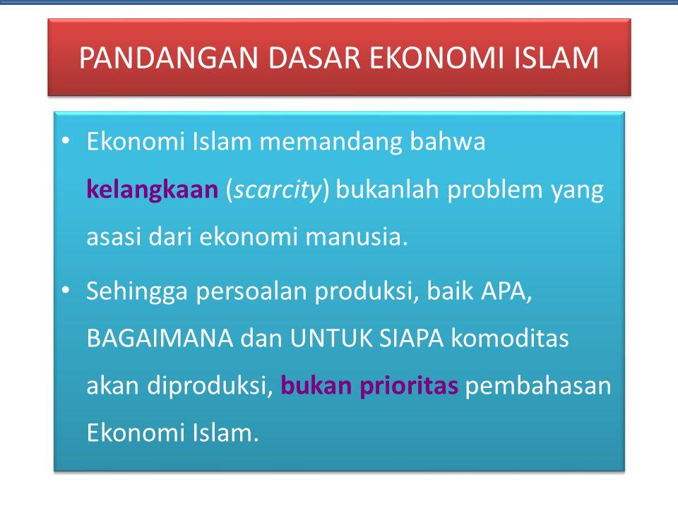 PANDANGAN DASAR EKONOMI ISLAM