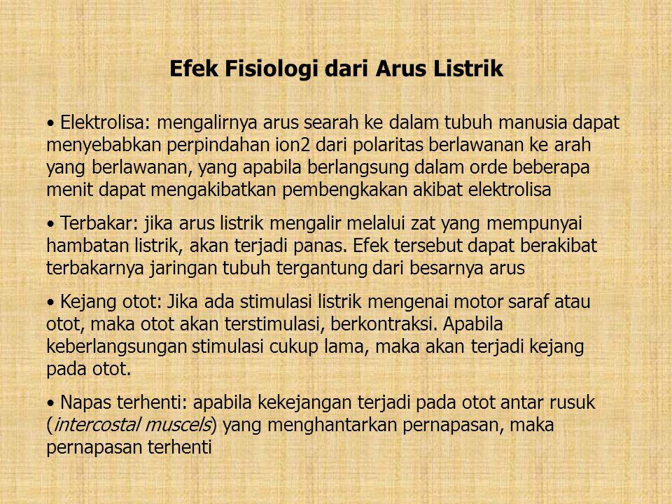 Efek Fisiologi dari Arus Listrik
