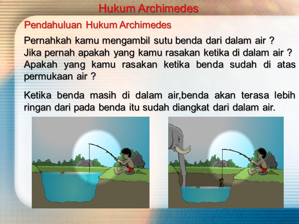 Hukum Archimedes Pendahuluan Hukum Archimedes