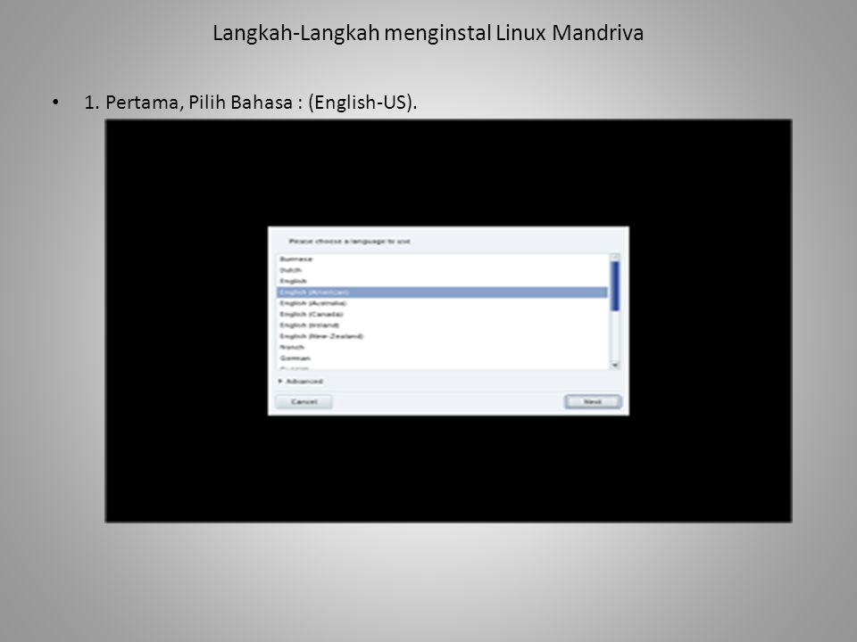 Langkah-Langkah menginstal Linux Mandriva