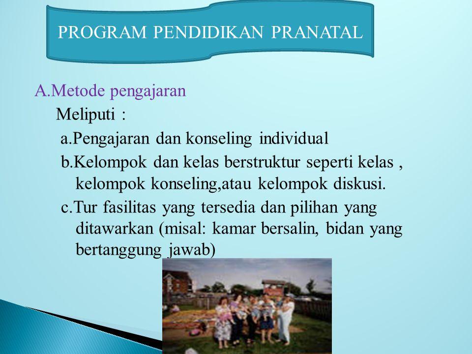 PROGRAM PENDIDIKAN PRANATAL