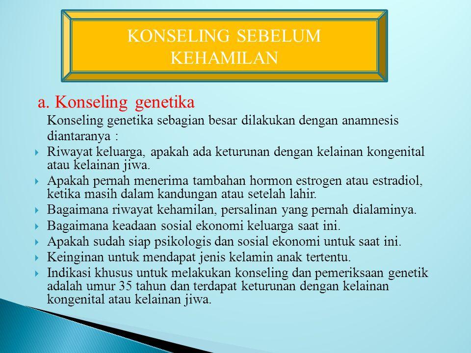 KONSELING SEBELUM KEHAMILAN