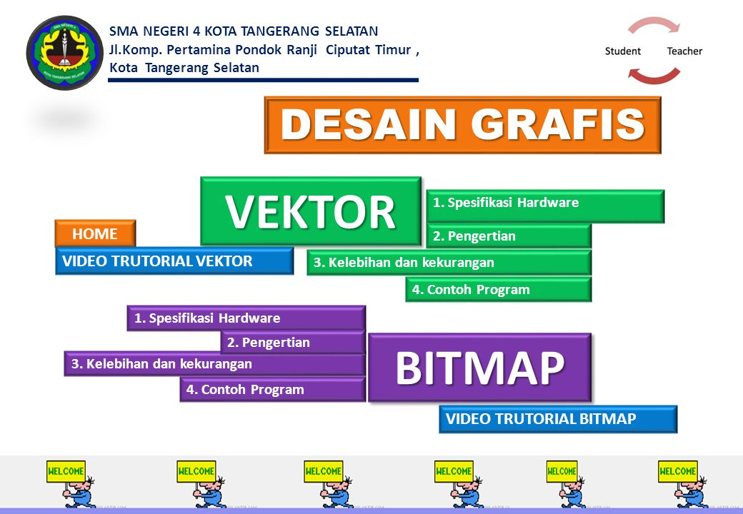VEKTOR BITMAP DESAIN GRAFIS HOME VIDEO TRUTORIAL VEKTOR