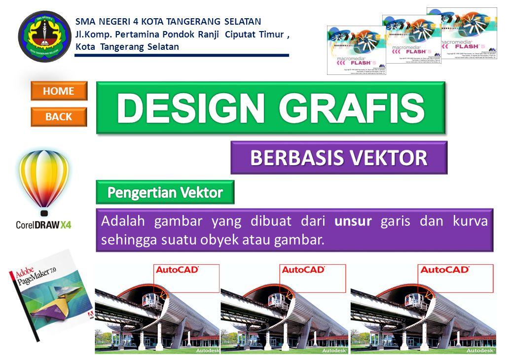 DESIGN GRAFIS BERBASIS VEKTOR Pengertian Vektor