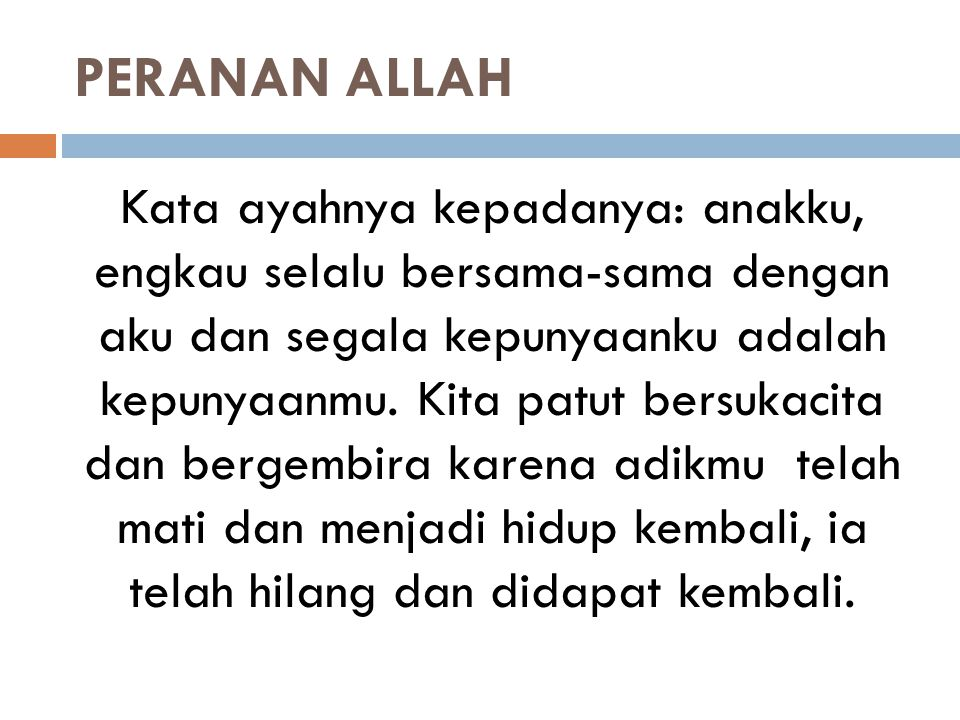 PERANAN ALLAH