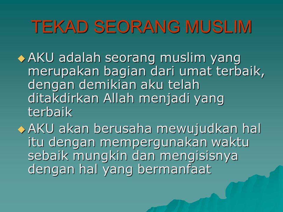 TEKAD SEORANG MUSLIM
